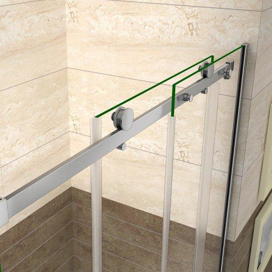 Porte de douche coulissante 140x195cm en verre anticalcaire