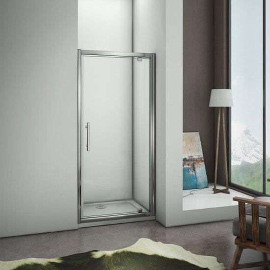 porte de douche pivotante paroi de douche 76x185cm. Black Bedroom Furniture Sets. Home Design Ideas
