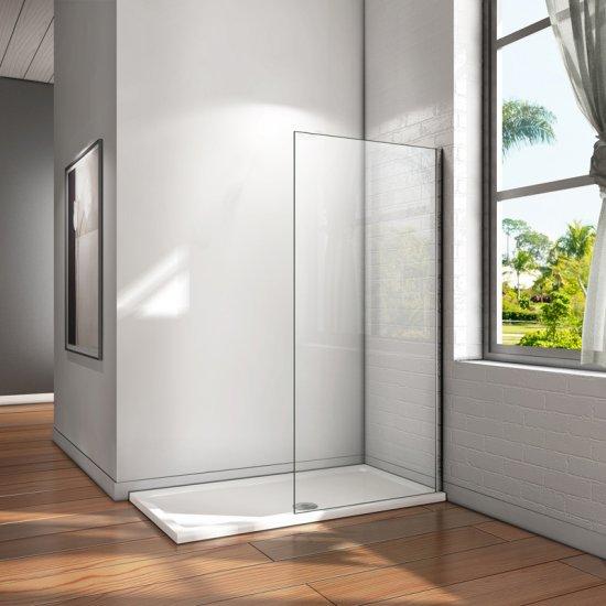 aica paroi de douche 1200x2000x8m paroi de douche l 39 italienne verre anticalcaire paroi de. Black Bedroom Furniture Sets. Home Design Ideas