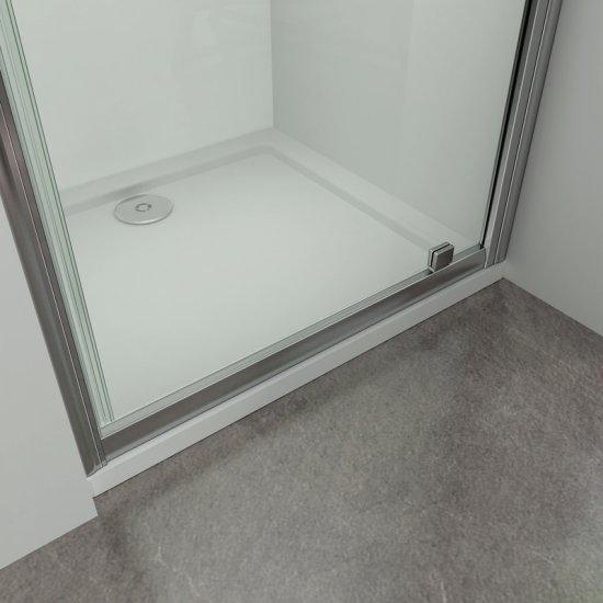Porte de douche 90x185cm pliante en niche mod/èle de N/éfr/é