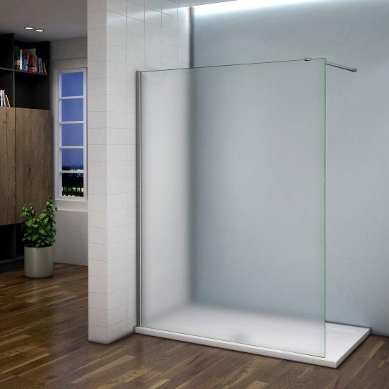 aica 120x200cm paroi de douche d polie pare douche sabl paroi fixe douche l 39 italienne avec. Black Bedroom Furniture Sets. Home Design Ideas