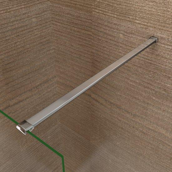 Barre de fixation 90cm en aluminium chrom pour les parois de douche et walk in aica grand - Fixation barre de douche ...