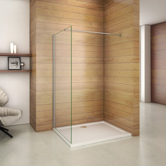 Aica paroi de douche 740x1850mm paroi de douche fixe, verre