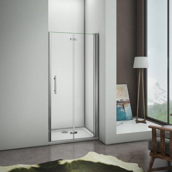 77x197cm porte de douche en niche porte de douche for Charniere porte de douche