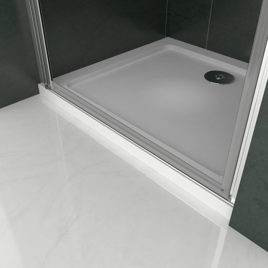 Porte de douche 70x187cm en verre anticalcaire avec un receveur installation en niche mod/èle dH/élida