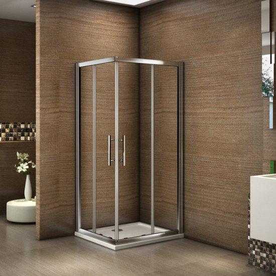 Cabine de douche avec le porte pivotant en verre securit