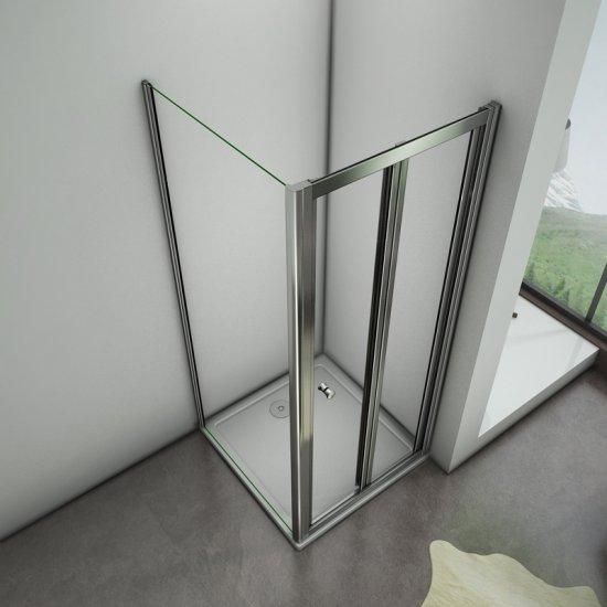 80x70x185cm cabine de douche porte de douche pliante paroi de douche