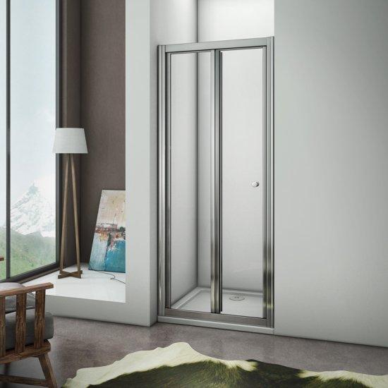 aica porte de douche pliante paroi de douche coulissante et rtractable100x185cmverre trempinstallation en nicher