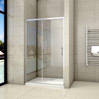 Paroi de douche 120x200 avec retour pivotante 40cm et la barre de fixation 45cm paroi de douche /à litalienne