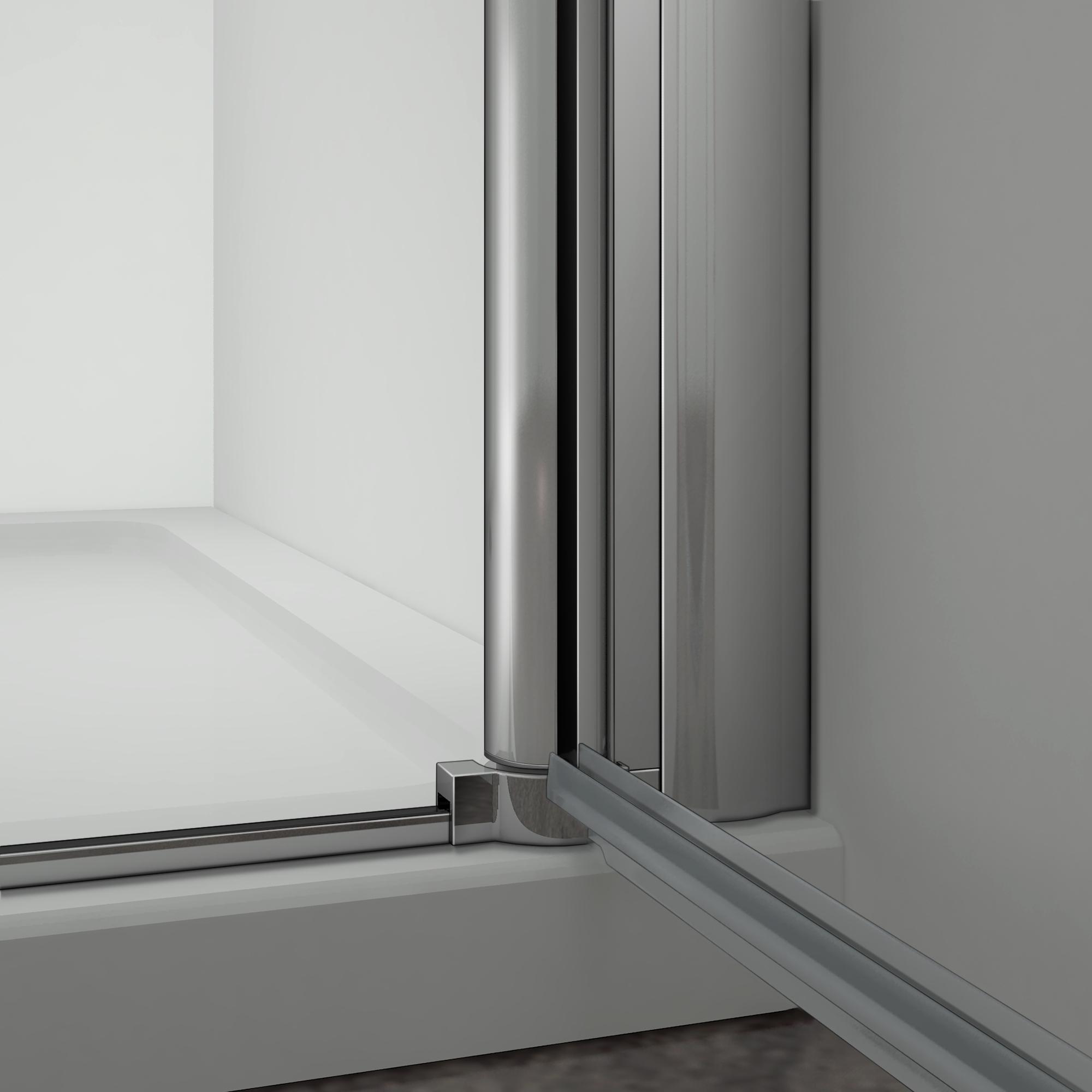 90x80x185cm porte pivotante porte de douche paroi de - Fixation porte de douche ...