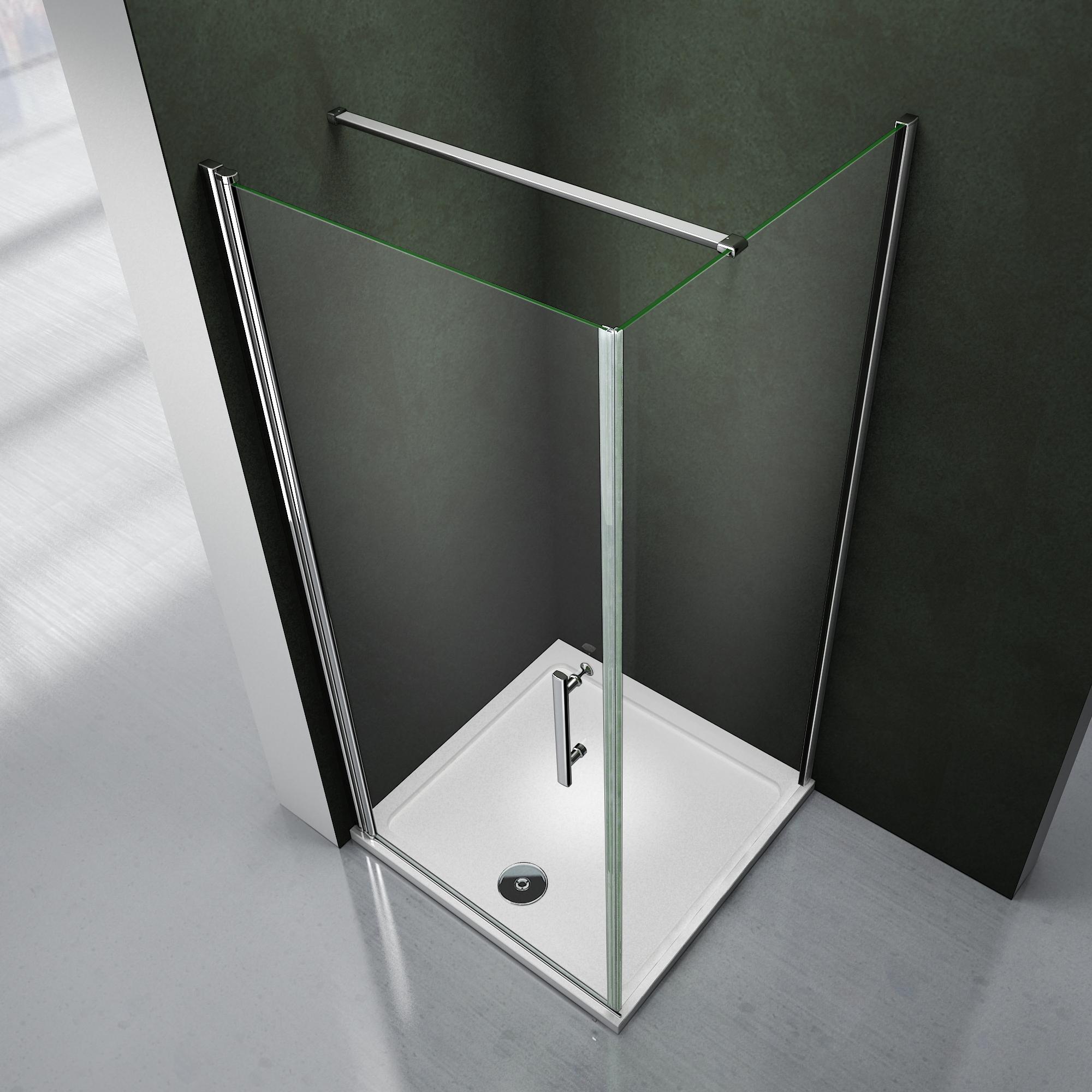80x80x195cm porte pivotante porte de douche paroi de - Fixation porte de douche ...