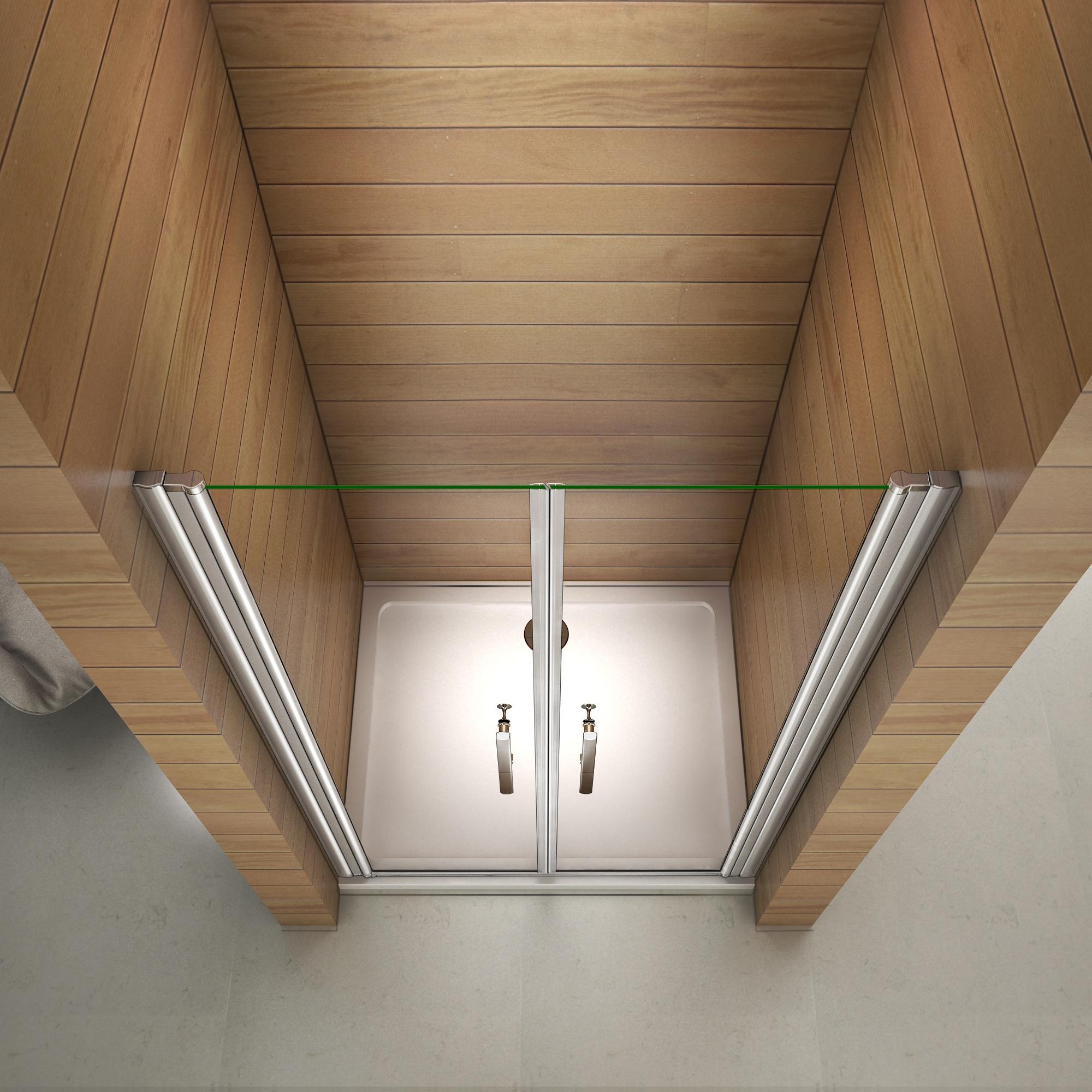 80x195cm porte de douche pivotante et r glable 6mm verre tremp anticalcaire ebay. Black Bedroom Furniture Sets. Home Design Ideas