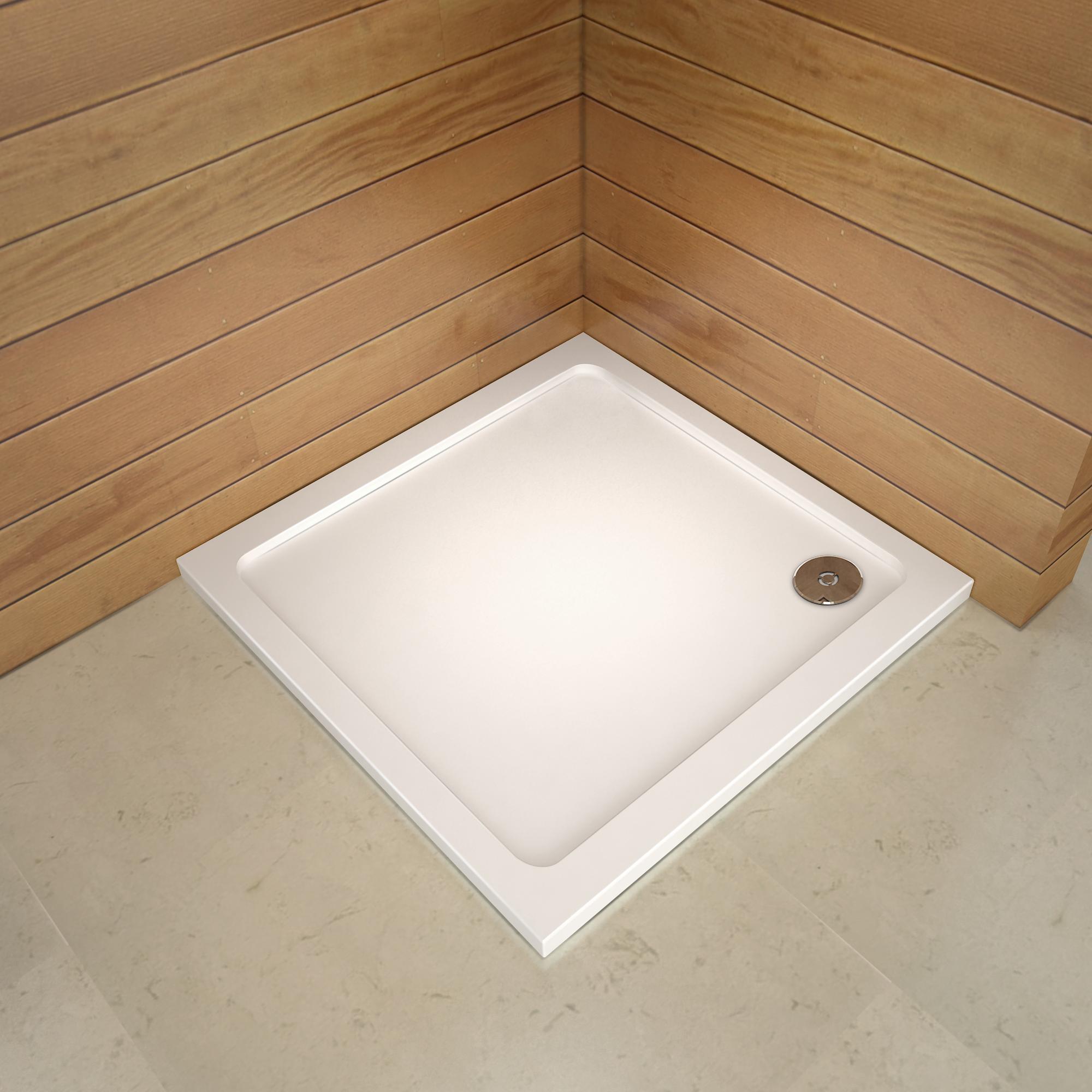 receveur de douche blanc 70x90 80x90 80x100 80x120 90x100 90x140cm 3cm hauteur g ebay. Black Bedroom Furniture Sets. Home Design Ideas