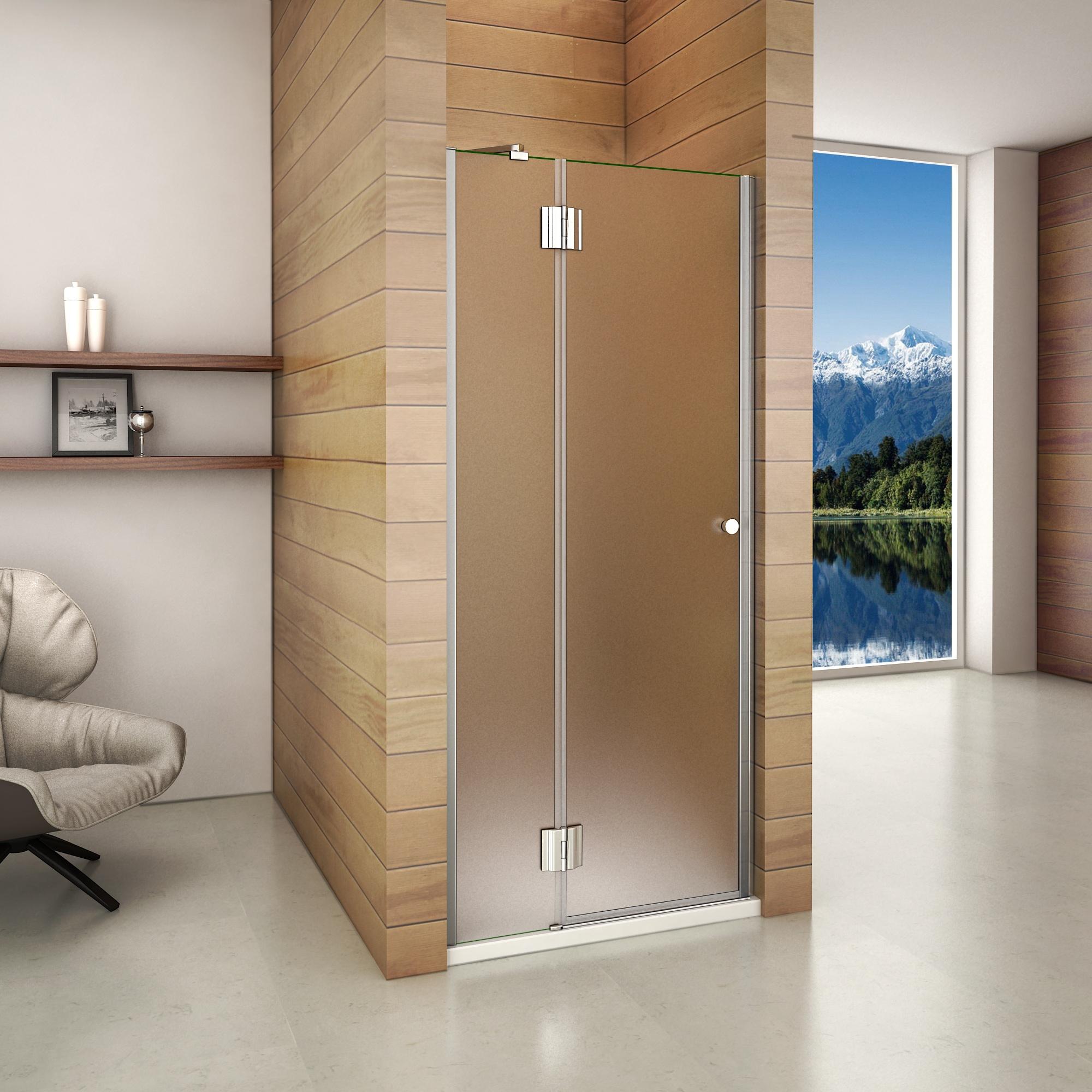 80x190cm porte de douche charni re paroi de douche 8mm verre d poli nano l ebay. Black Bedroom Furniture Sets. Home Design Ideas