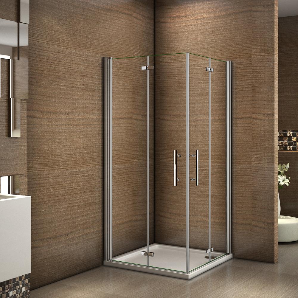 100x90x185cm cabine de douche acc s d 39 angle porte de douche pivotante pliante ebay - Baignoire douche avec porte d acces ...