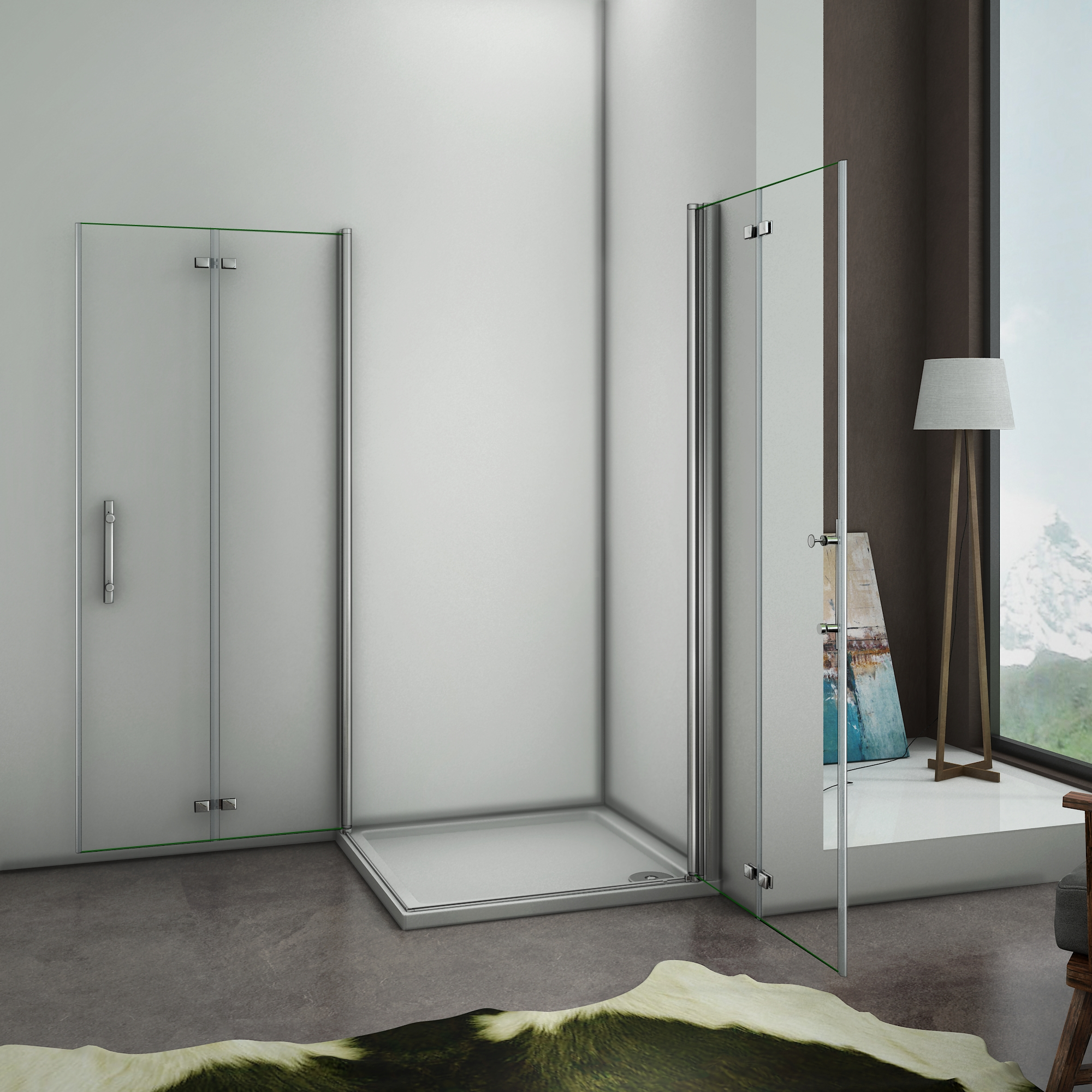 90x90x195cm cabine de douche acc s d 39 angle porte de douche. Black Bedroom Furniture Sets. Home Design Ideas