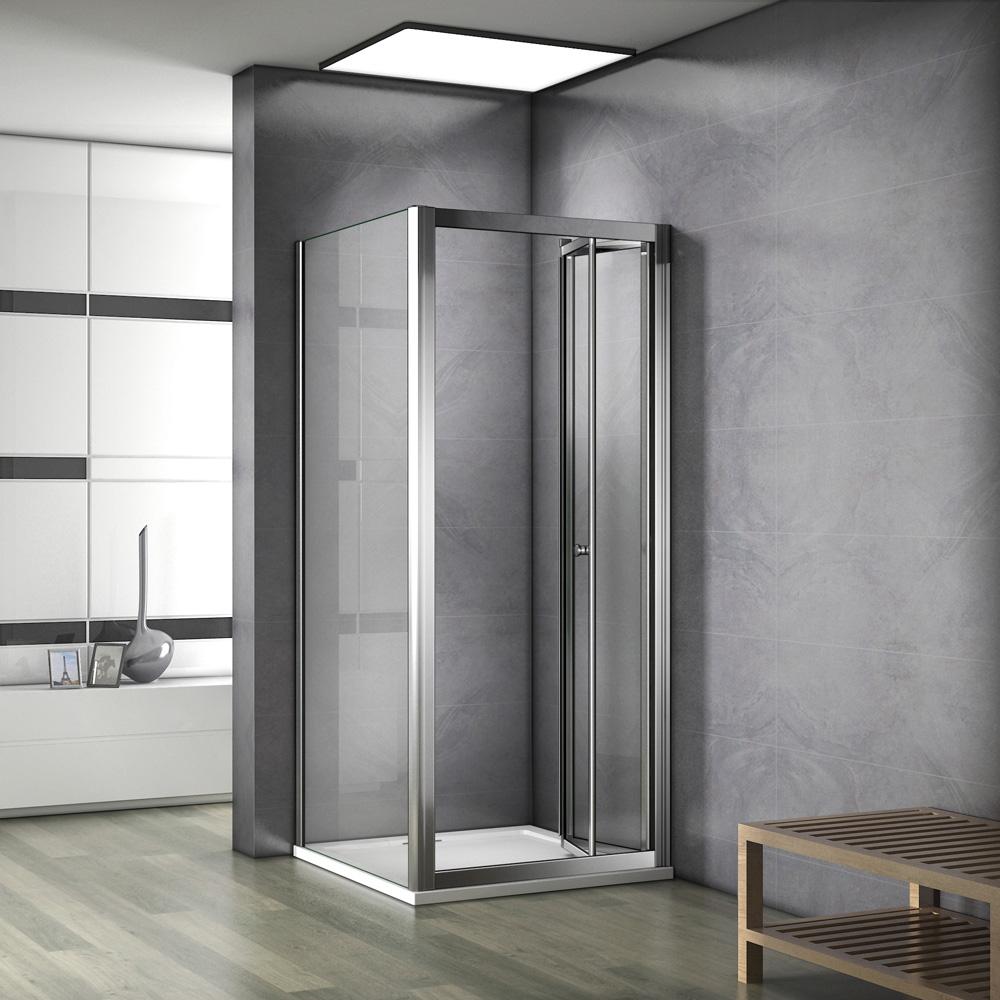 80x80cmx185cm paroi de douche pliante avec une paroi lat rale cabine de douche ebay - Paroi de douche pliante ...