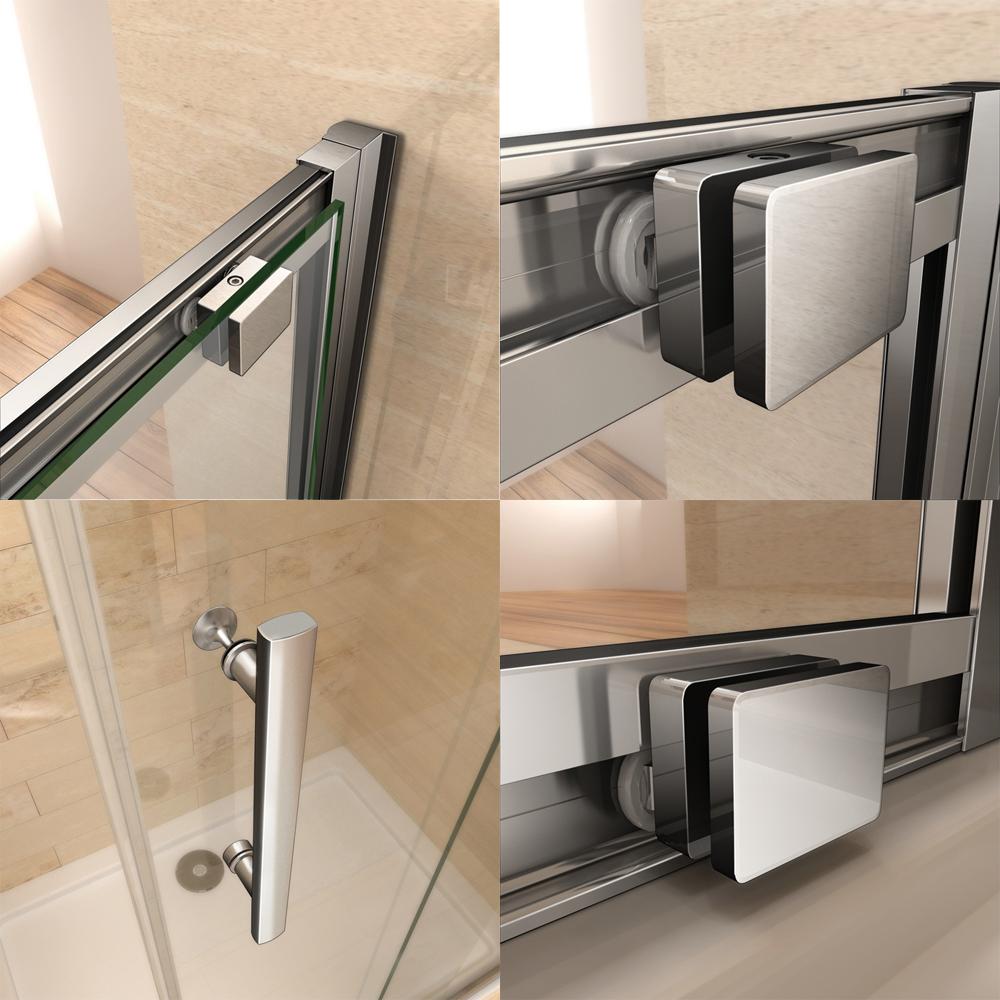 100x70cm cabine de douche porte coulissante avec paroi de douche sans receveur ebay. Black Bedroom Furniture Sets. Home Design Ideas