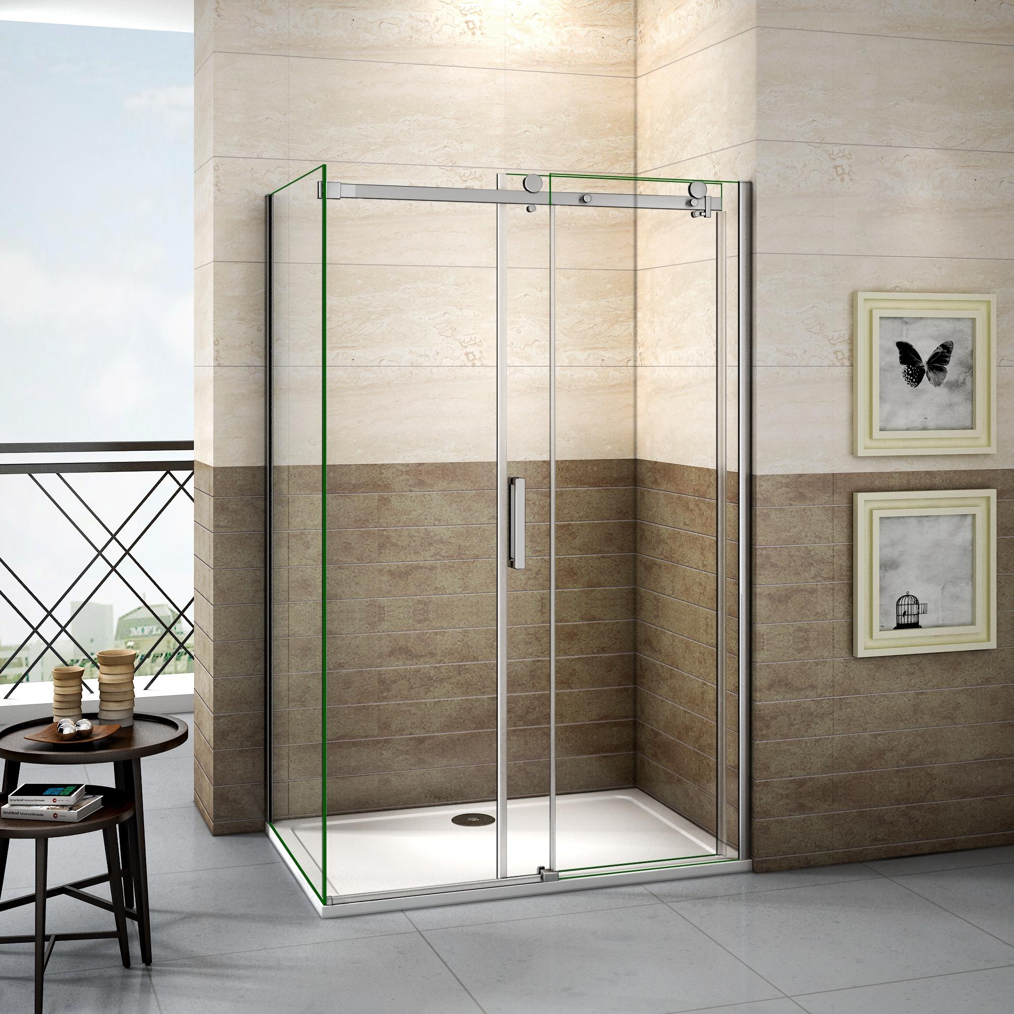 porte de douche coulissante 120cm  paroi de douche 80cm