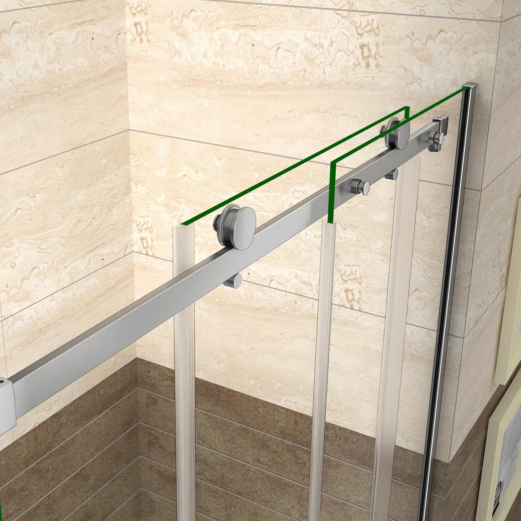 Porte de douche coulissante 120x195cm paroi de douche 8mm - Portes de douche coulissantes ...