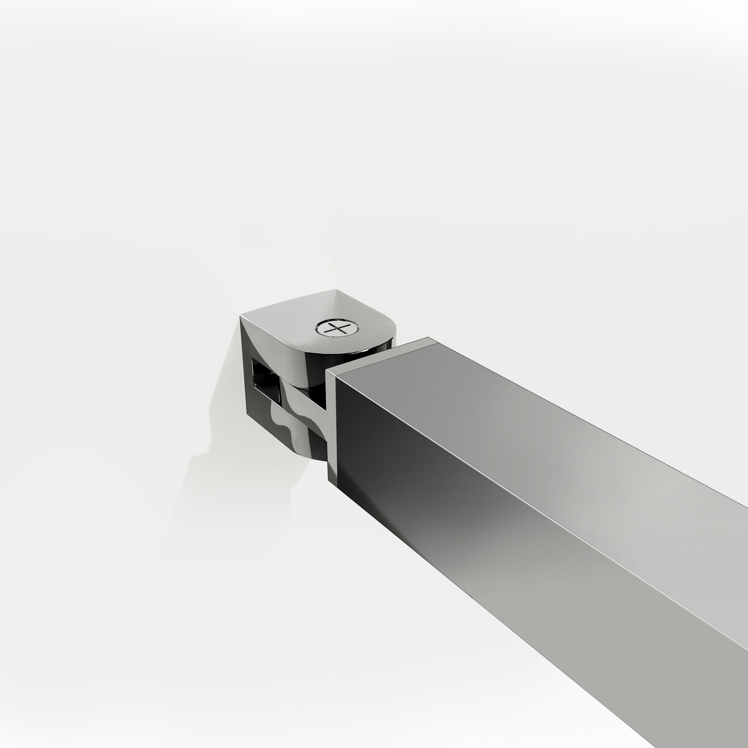 Paroi de douche 76x185cm 6mm verre tremp anticalcaire - Fixation barre de douche ...
