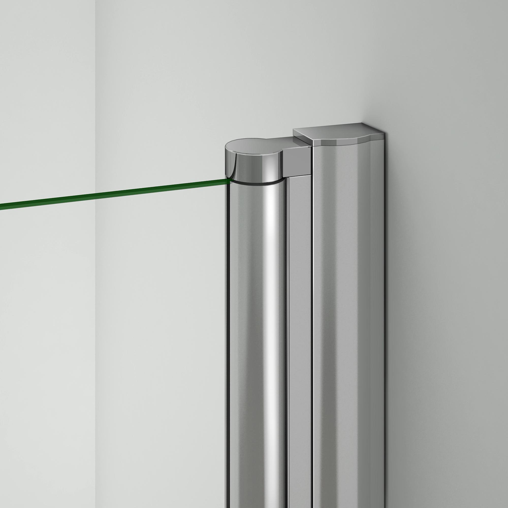 76x195cm cabine de douche acc s d 39 angle porte de douche for Mecanisme porte pivotante