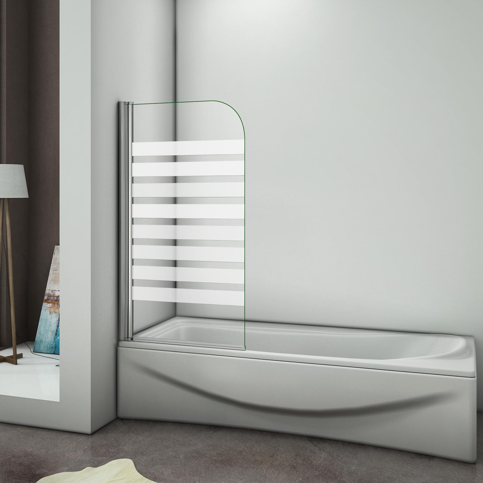 aica 800x1400x6mm pare baignoire pivotant 180 porte de baignoire 6mm verre anticalcaire avec. Black Bedroom Furniture Sets. Home Design Ideas