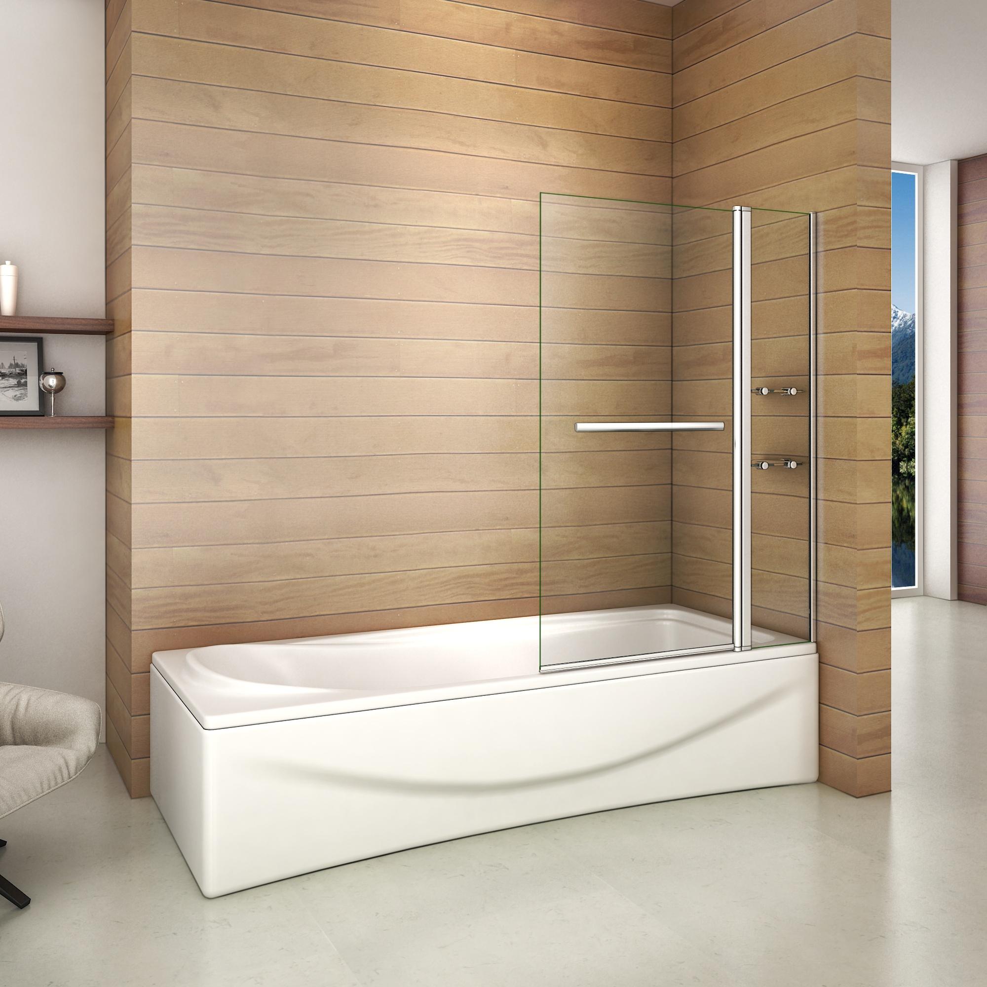 1000x1400x6mm pare baignoire pivotant 180 cran de - Vasca da bagno con gambe ...