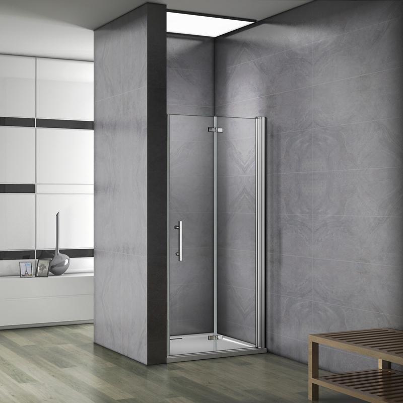 aica 90x187cm porte de douche porte de douche charni re installation en niche verre s curit. Black Bedroom Furniture Sets. Home Design Ideas