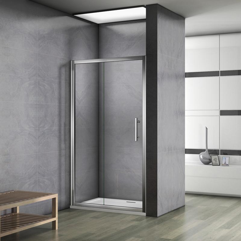 Aica 100x185cm paroi de douche porte de douche coulissante escamotable verre s curit - Reglementation douche de securite ...