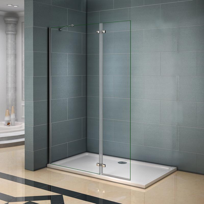 paroi de douche 100x200cm avec retour pivotante 40cm et la barre de fixation 45cm paroi de. Black Bedroom Furniture Sets. Home Design Ideas