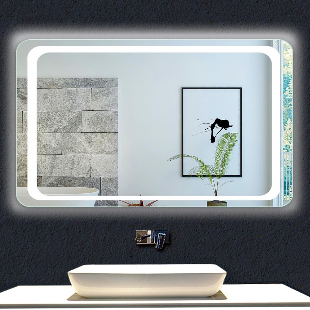 Eclairage Volume 2 Salle De Bain miroir de salle de bain 80x60cm anti-buée miroir mural avec éclairage led  modèle classique plus 2.0 [j-g021] - aica - grand choix au petit prix -